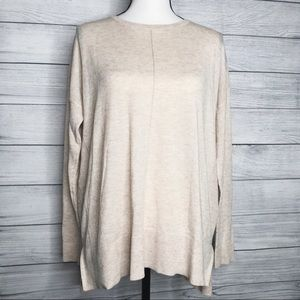 TopShop Knit Long Sleeve Top Cream Color Size 8